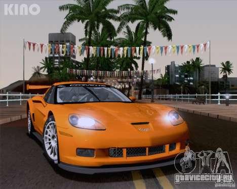 Chevrolet Corvette C6 Z06R GT3 v1.0.1 для GTA San Andreas вид сзади слева