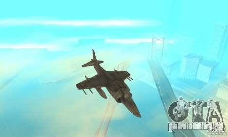 AV-8 Harrier для GTA San Andreas вид изнутри