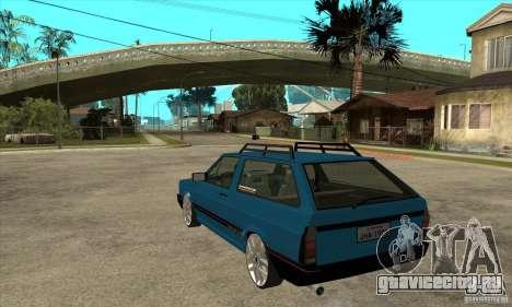 VW Parati GLS 1989 JHAcker edition для GTA San Andreas вид сзади слева