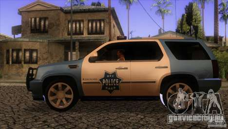 Cadillac Escalade 2007 Cop Car для GTA San Andreas вид слева