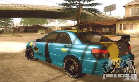 Subaru Impreza WRX STI Futou Battle для GTA San Andreas вид слева