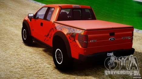 Ford F150 SVT Raptor 2011 для GTA 4 вид сзади слева