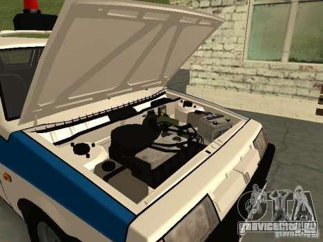 ВАЗ 2109 Милиция для GTA San Andreas вид сзади