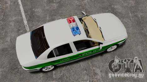 Iran Khodro Samand LX Police для GTA 4 вид справа