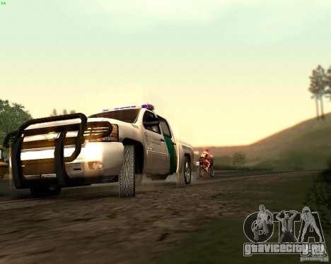 Chevrolet Silverado Police для GTA San Andreas вид сверху