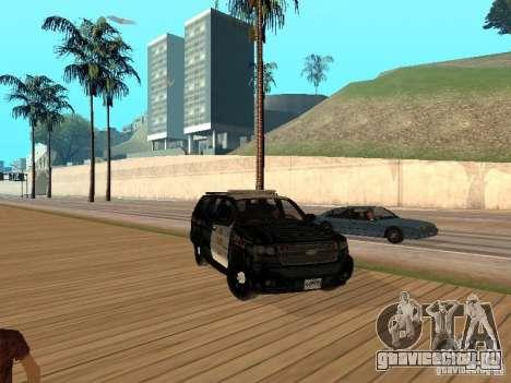 Chevrolet Tahoe Ontario Highway Police для GTA San Andreas вид слева