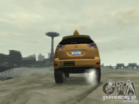 Lexus RX400 New York Taxi для GTA 4 вид сверху