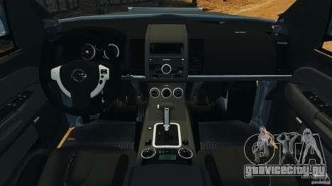Nissan Frontier DUB v2.0 для GTA 4 вид сзади