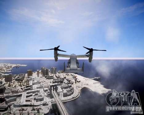Osprey MV-22 для GTA 4 вид сзади