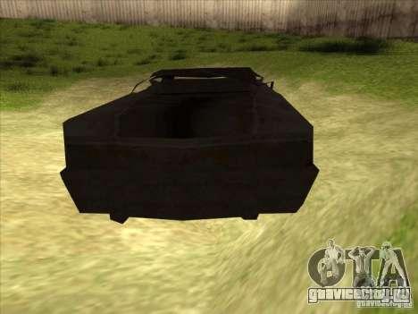Real Ghostcar для GTA San Andreas вид сзади слева