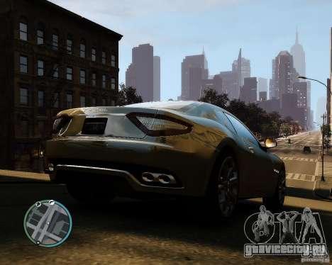 Maserati Grandturismo для GTA 4 вид справа