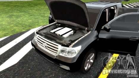 Toyota Land Cruiser 200 RESTALE для GTA 4 салон