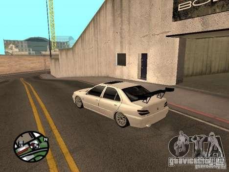 Peugeot 406 Tuning для GTA San Andreas вид сзади слева