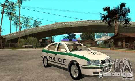 Skoda Octavia Police CZ для GTA San Andreas вид сзади