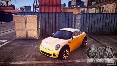 Mini Coupe Concept v0.5 для GTA 4 вид сзади