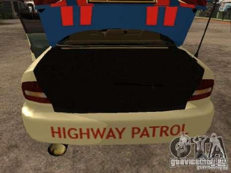 Mitsubishi Galant Police Indanesia для GTA San Andreas вид сзади