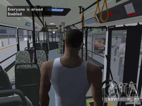 Ikarus 415 для GTA San Andreas вид снизу