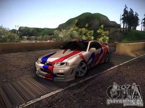 Nissan Skyline full tune для GTA San Andreas вид слева