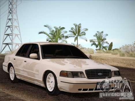 Ford Crown Victoria Interceptor для GTA San Andreas вид сзади
