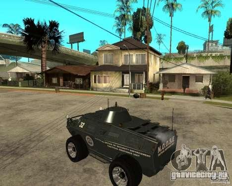 БТР из GTA IV для GTA San Andreas вид слева