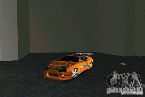 Toyota Supra Fast and the Furious для GTA Vice City вид сзади