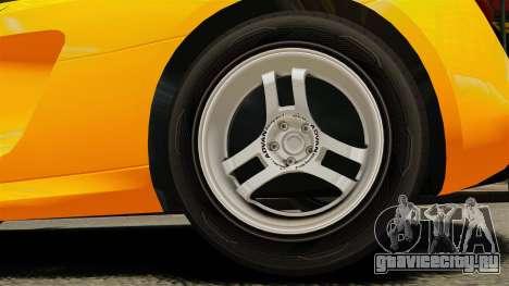 Audi R8 Spyder для GTA 4 вид сзади