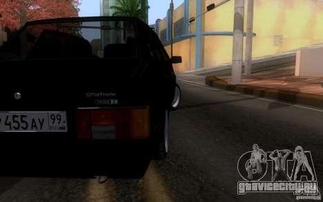 Ваз 21099 Синька для GTA San Andreas вид сзади слева