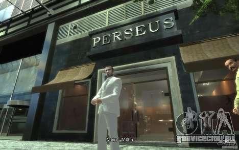 Отличный серо-белый костюм для GTA 4 четвёртый скриншот