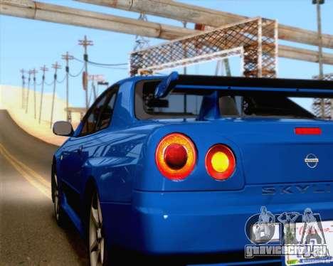 Nissan Skyline R34 для GTA San Andreas вид сбоку