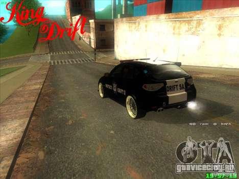 Subaru Impreza WRX Police для GTA San Andreas вид сзади слева