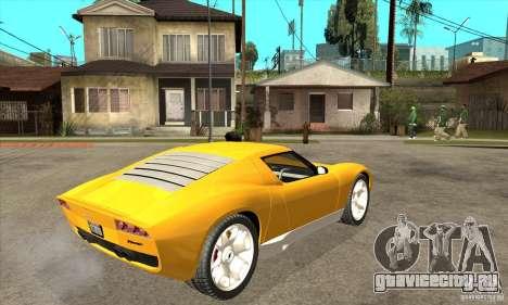 Lamborghini Miura Concept 2006 для GTA San Andreas вид справа