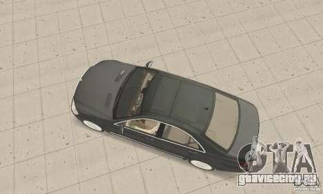Mercedes-Benz S500 (w221) 2006 для GTA San Andreas вид сзади слева