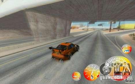 CraZZZy Speedometer v.1.2 + Ограниченный бензин для GTA San Andreas второй скриншот