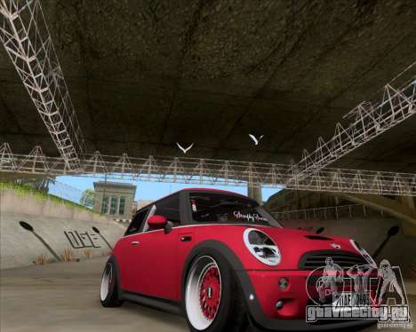 Mini Cooper S Euro для GTA San Andreas вид справа