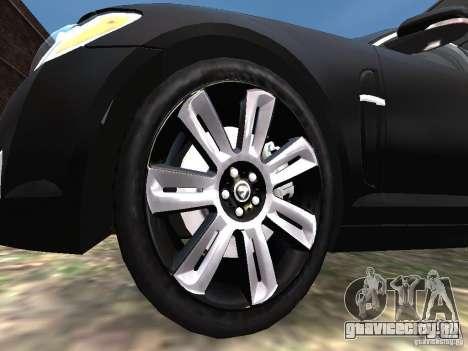 Jaguar XFR для GTA 4 вид снизу