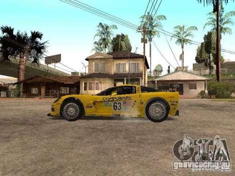 Chevrolet Corvette C6-R для GTA San Andreas вид слева