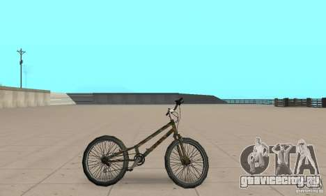 Trial bike для GTA San Andreas вид сзади слева