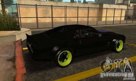 Ford Mustang из NFS Shift 2 для GTA San Andreas вид сзади слева