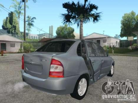 Лада Калина седан для GTA San Andreas вид снизу