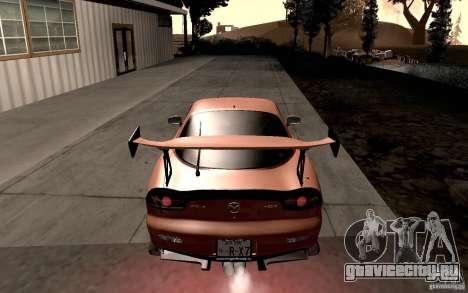 Mazda RX-7 Hellalush для GTA San Andreas вид справа