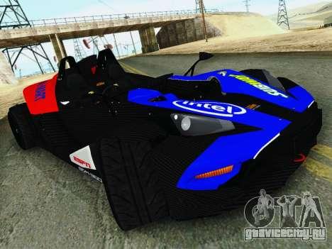 KTM X-Bow 2013 для GTA San Andreas вид справа