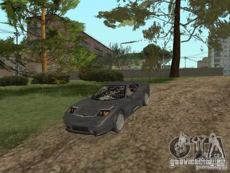 Cheetah из ГТА 4 для GTA San Andreas вид изнутри