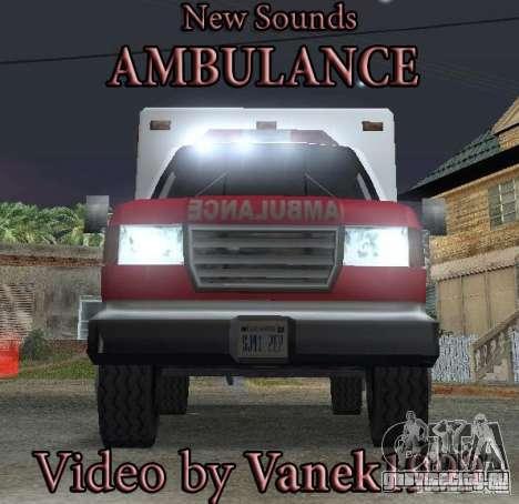 Новый сигнал скорой помощи для GTA San Andreas