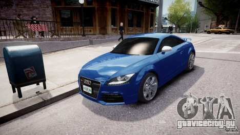 Audi TT RS Coupe v1 для GTA 4 вид сзади