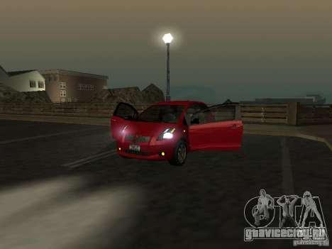 Toyota Yaris для GTA San Andreas вид сбоку