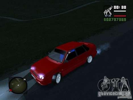ВАЗ 2115 ФЫР Beta для GTA San Andreas вид сзади слева