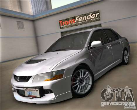 Mitsubishi Lancer Evolution IX Tunable для GTA San Andreas вид изнутри