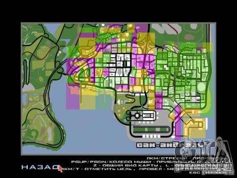 San Fierro and Los Santos Gang Zone для GTA San Andreas третий скриншот