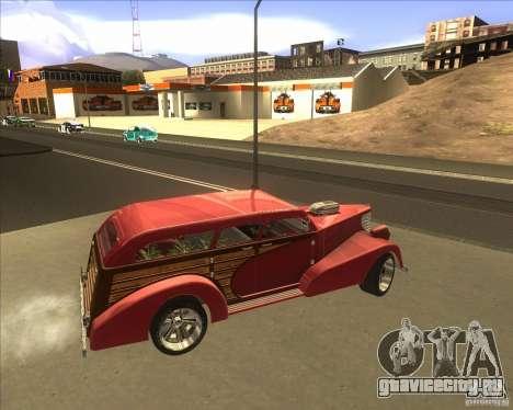 Custom Woody Hot Rod для GTA San Andreas вид изнутри