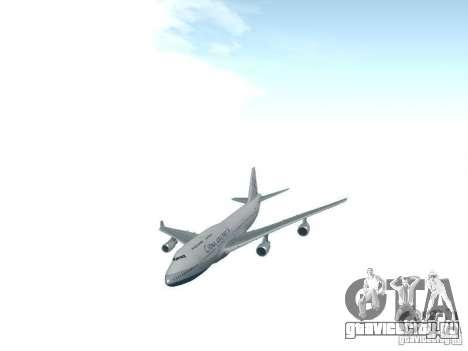 Boeing 747-400 China Airlines для GTA San Andreas вид сзади